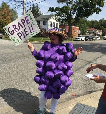 Grape Pie mascot